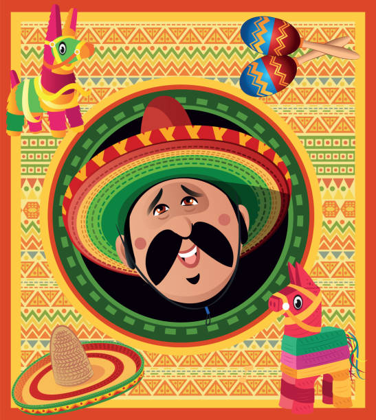 bildbanksillustrationer, clip art samt tecknat material och ikoner med viva mexico - latino music