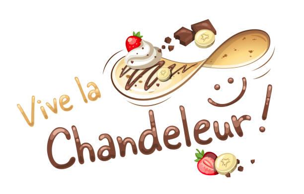 bildbanksillustrationer, clip art samt tecknat material och ikoner med «vive la chandeleur». franska namnet för en fransk händelse under när crepes är klar för detta speciella tillfälle. - crepe