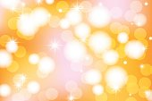 Vivid bokeh in golden color. Background with highlights. vector