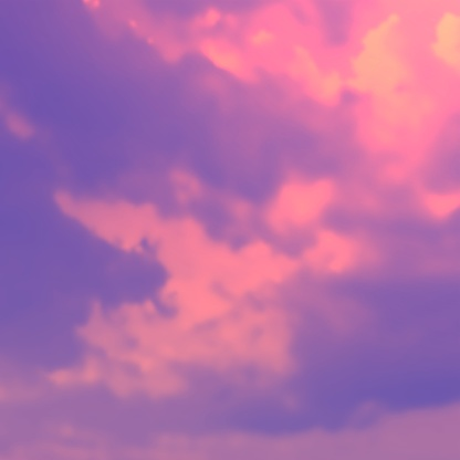 Vivid Colored Aesthetic Sky Background Realistic Vector Pink Clouds Stock Illustration Download Image Now Istock
