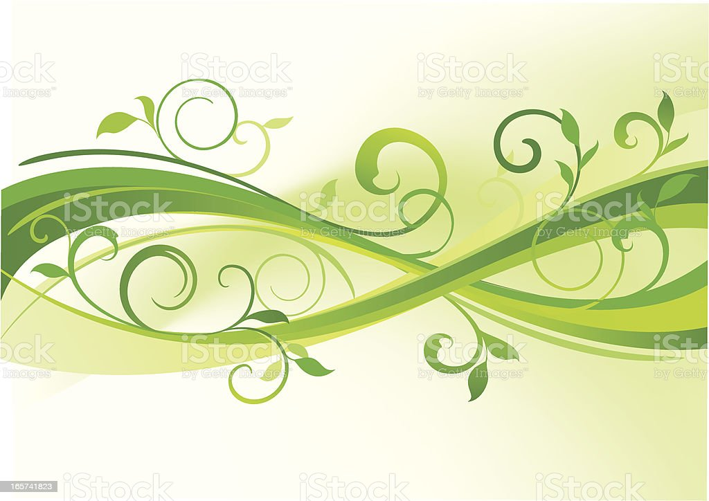 vivid green royalty-free stock vector art