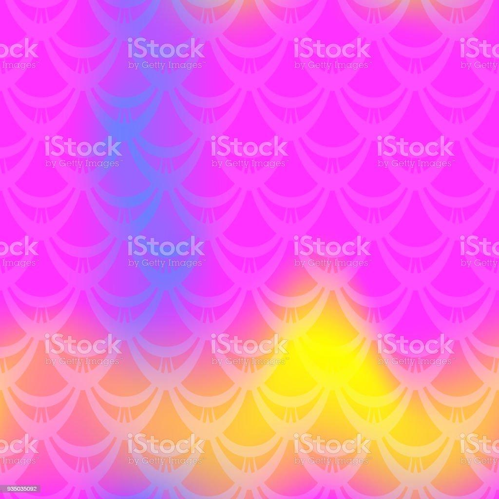 Vivid mermaid vector background. Multicolored iridescent background. Fish scale pattern. vector art illustration