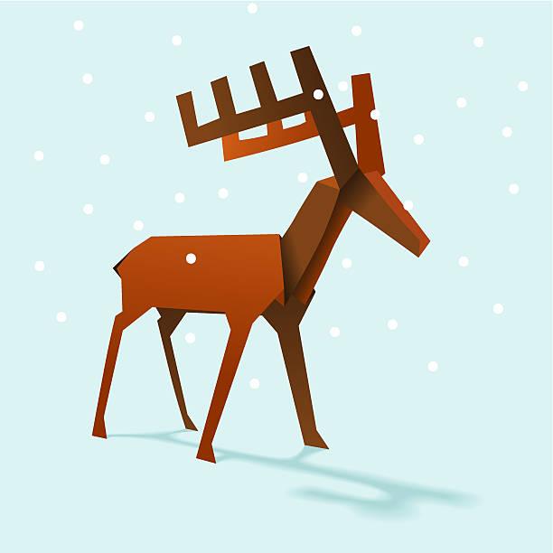 Vixen Reindeer vector art illustration