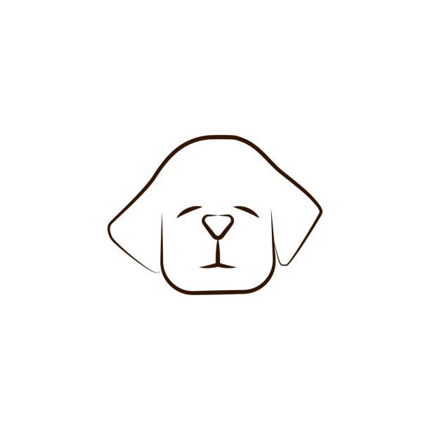 vizsla-symbol. einer der hunderassen hand zeichnen symbol - vizsla stock-grafiken, -clipart, -cartoons und -symbole