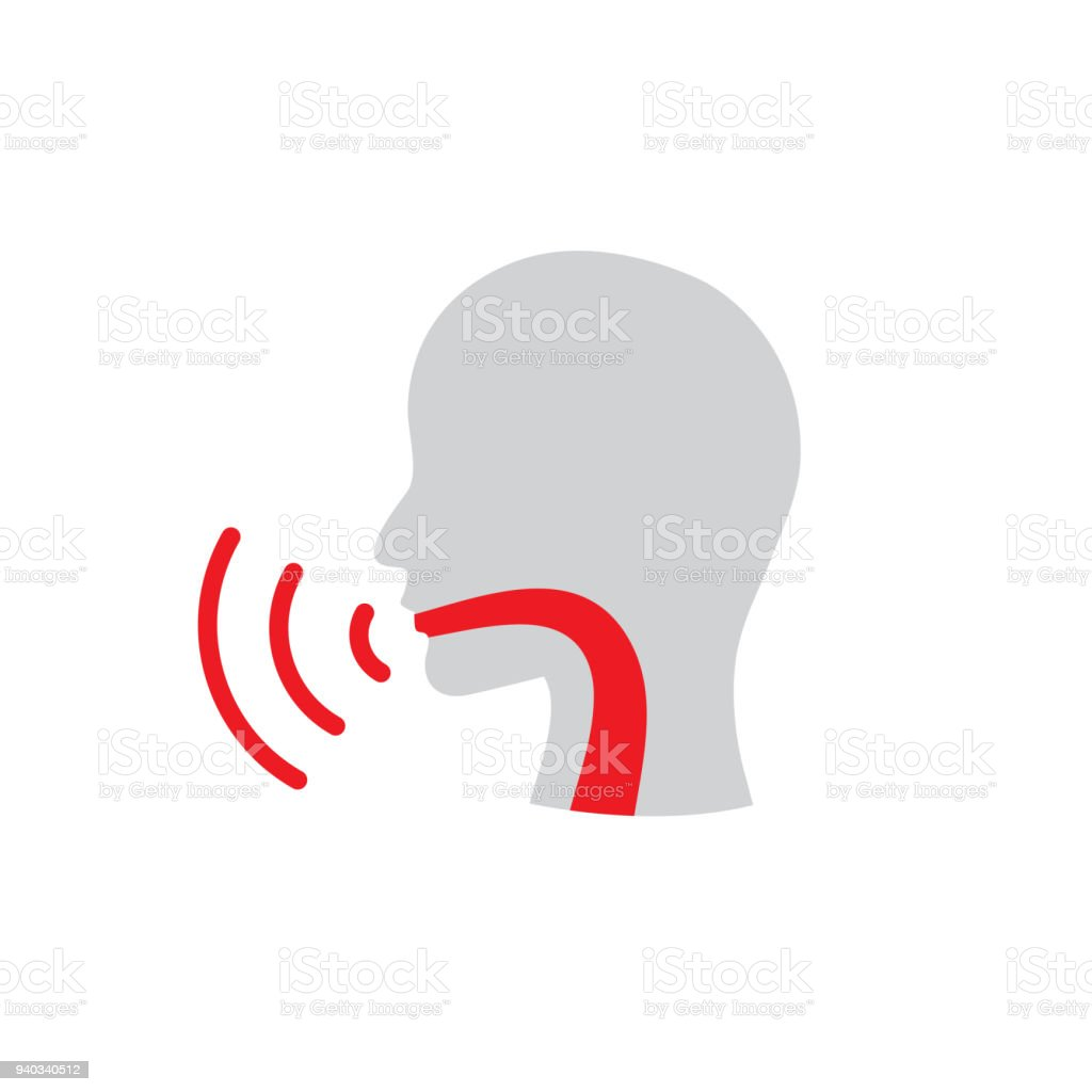 Vocal Cord Icon With Person Image Vector Illustration Stock Vector ...