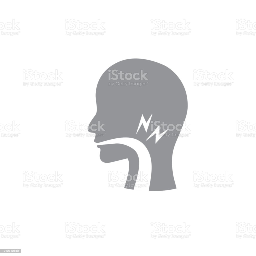 Stimmbandsymbol Mit Person Bild Vektorillustration Stock Vektor Art ...