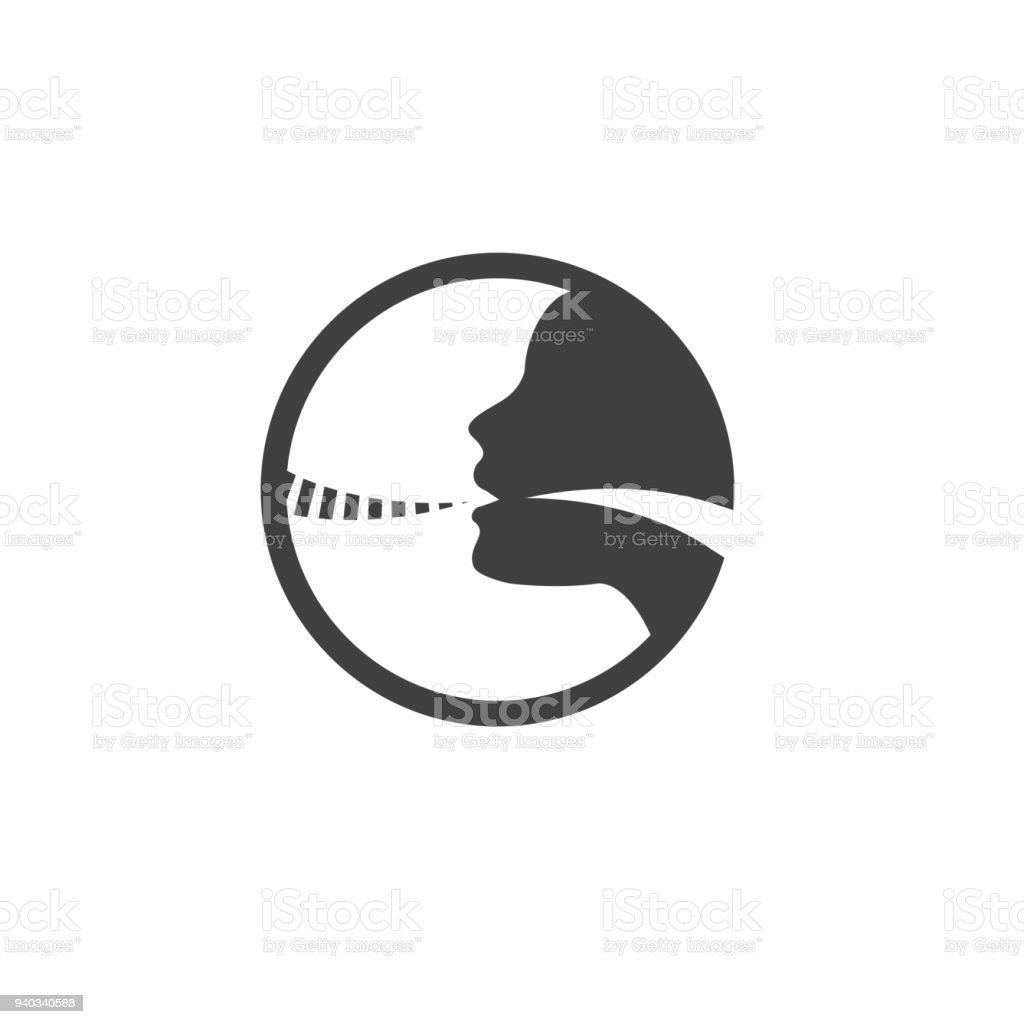 Stimmbandsymbol Mit Person Bild Vektorillustration Stock Vektor Art ...