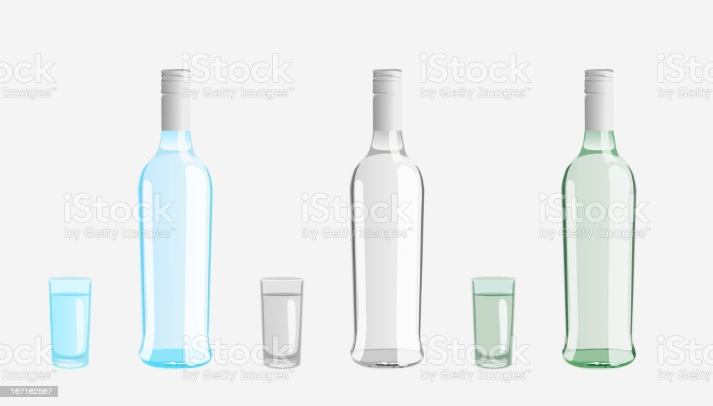 vodka bottle royalty-free stock vector art