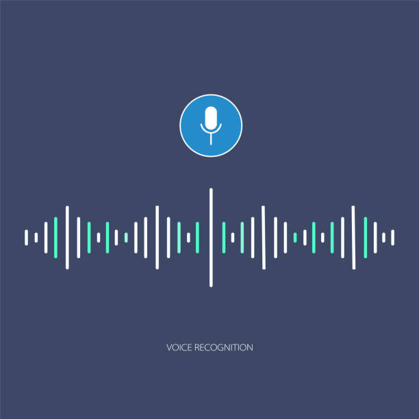 Voice assistant Voice assistant vector. Voice recognition speech recognition stock illustrations