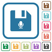 Voice file simple icons