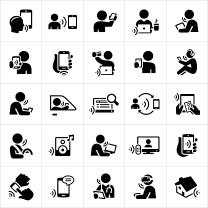 Voice Recognition Technology Icons