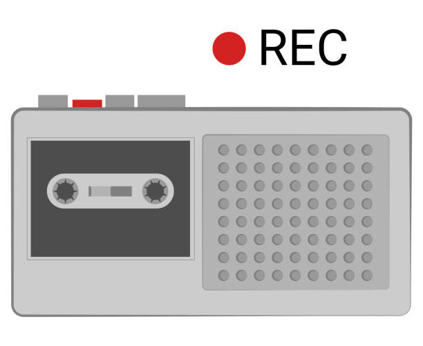 Voice Recorder vector art illustration