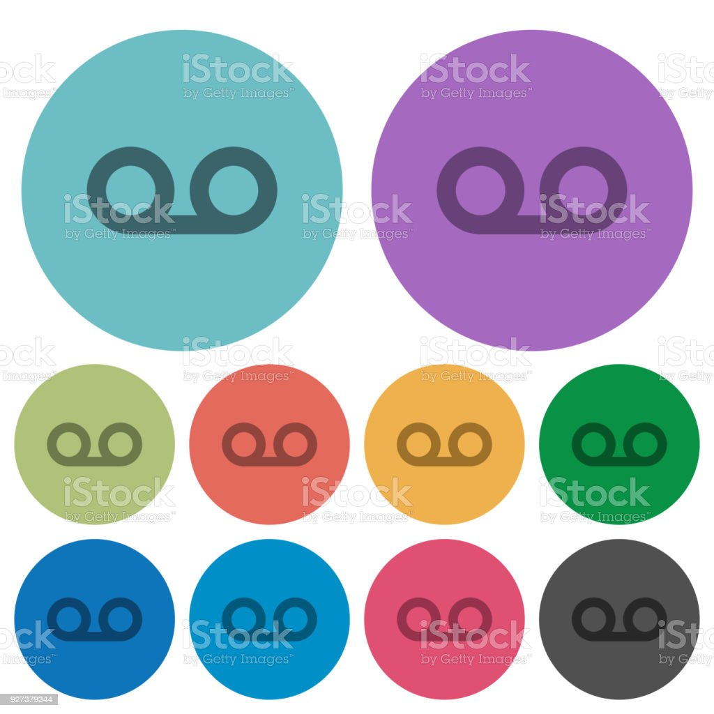 voicemail color darker flat icons stock vector art more images of