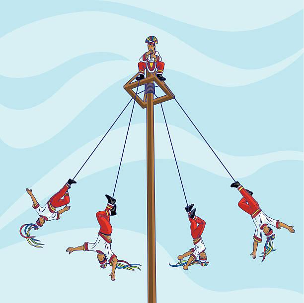 Voladores de Papantla vector art illustration