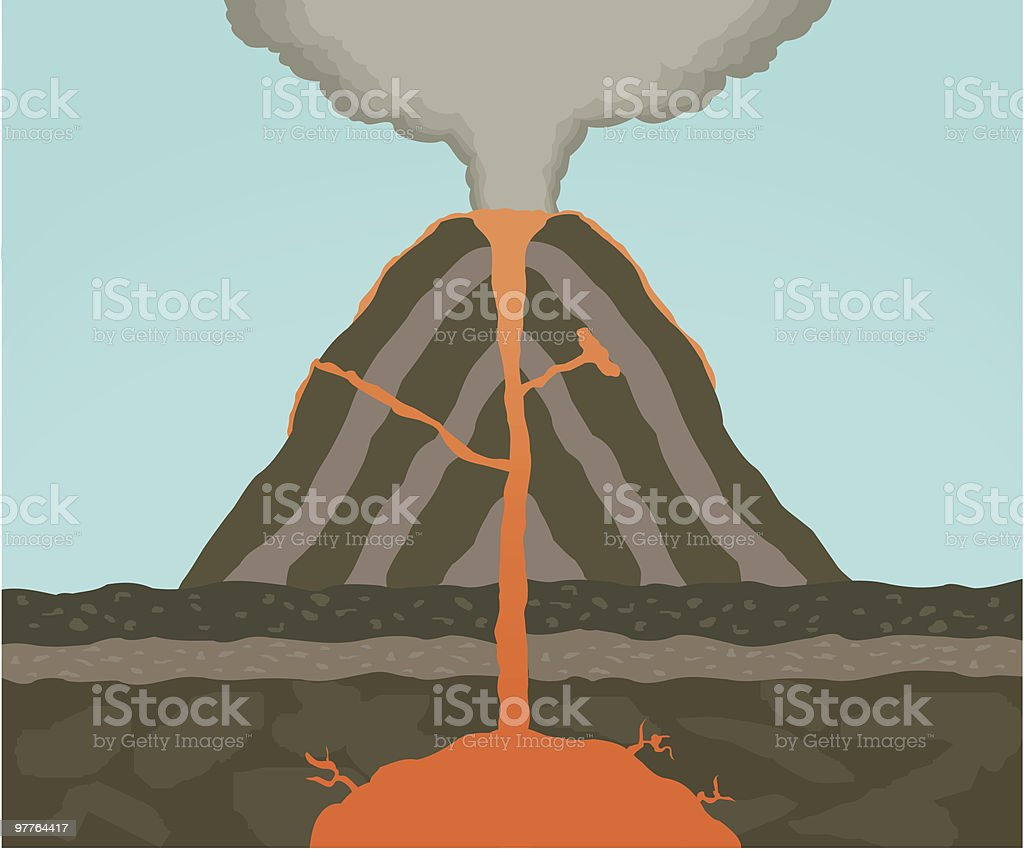 Volcano Dynamics vector art illustration