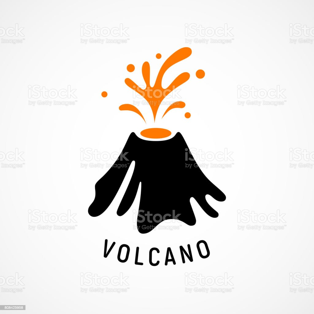 V Is For Volcano Clipart Volcano Icon Stock Vec...
