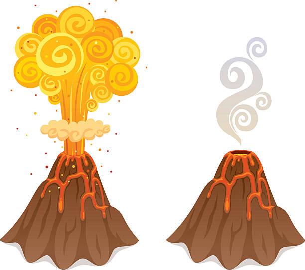 vulkan - vulkane stock-grafiken, -clipart, -cartoons und -symbole