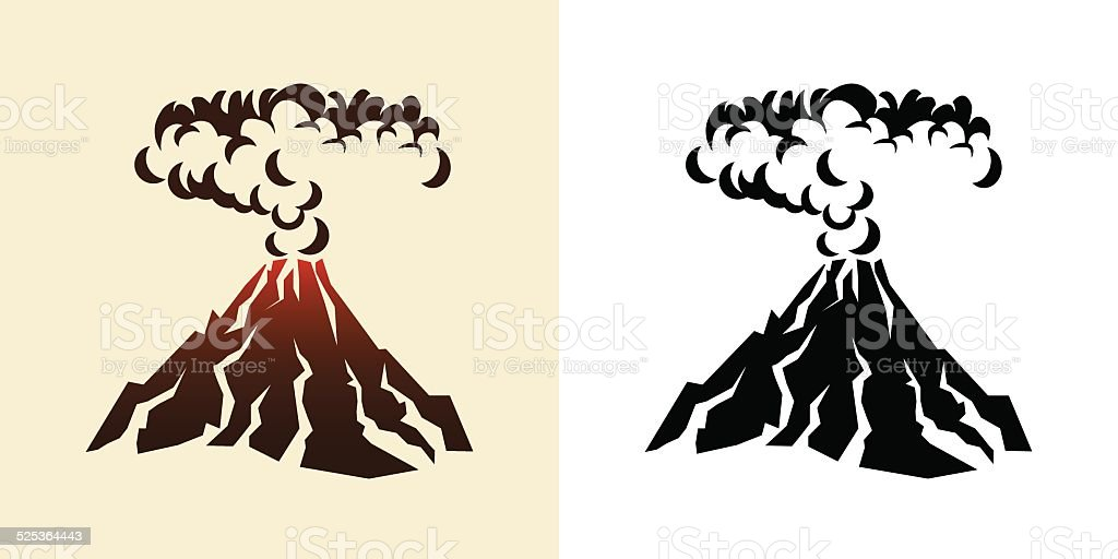 Vulcani Disegni: Volcano Stock Vector Art & More Images Of Active Volcano