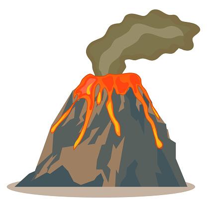 Volcano, volcano icon, lava, mountain