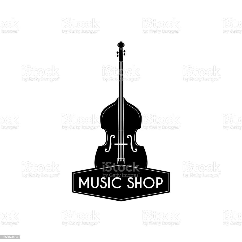 Volin Icon Music Shop Logo Music Store Label Emblem Musical