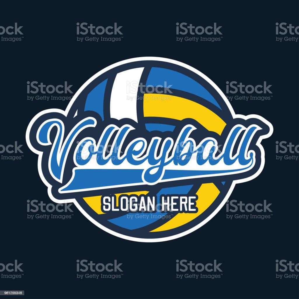 Volley-Ball-Symbol, Vektor-illustration – Vektorgrafik