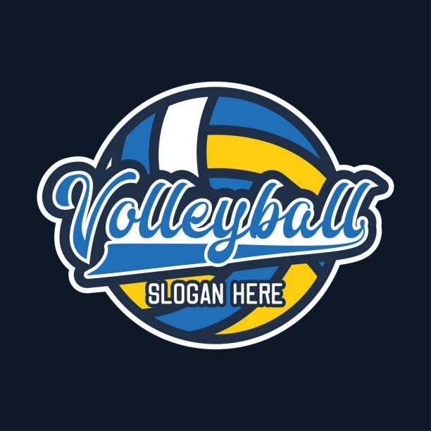 ilustrações, clipart, desenhos animados e ícones de ícone de bola de vôlei, ilustração vetorial - voleibol