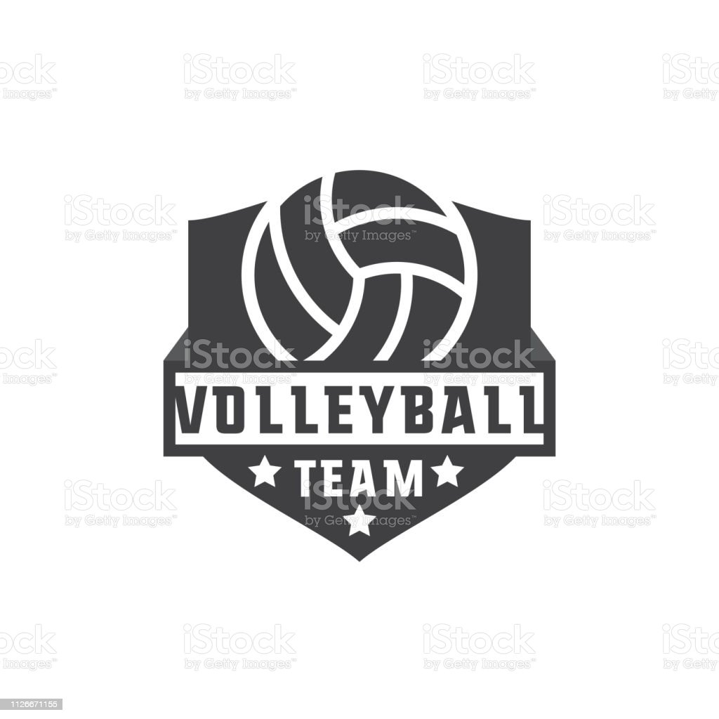 volley ball icon with text space for your slogan / tag line, vector...