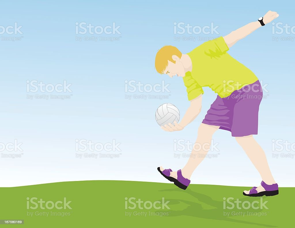 Volley Ball Serve royalty-free stock vector art