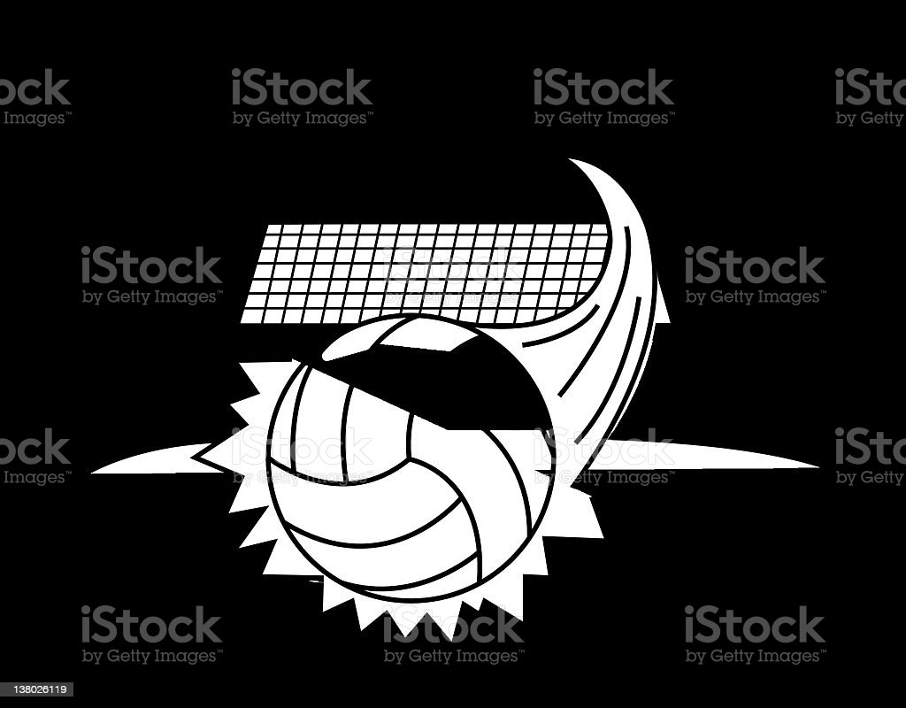 Volleyball Action vector art illustration