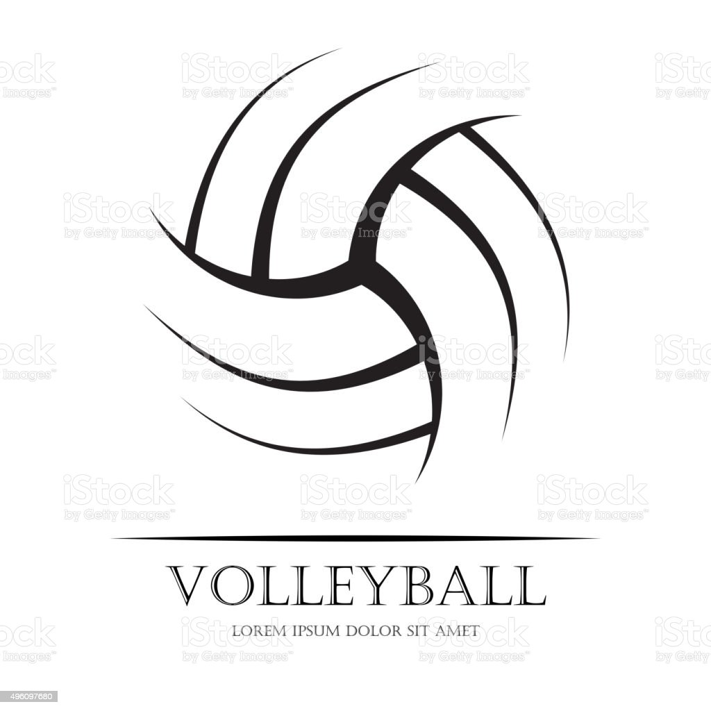 Volleyball background ball vector art illustration
