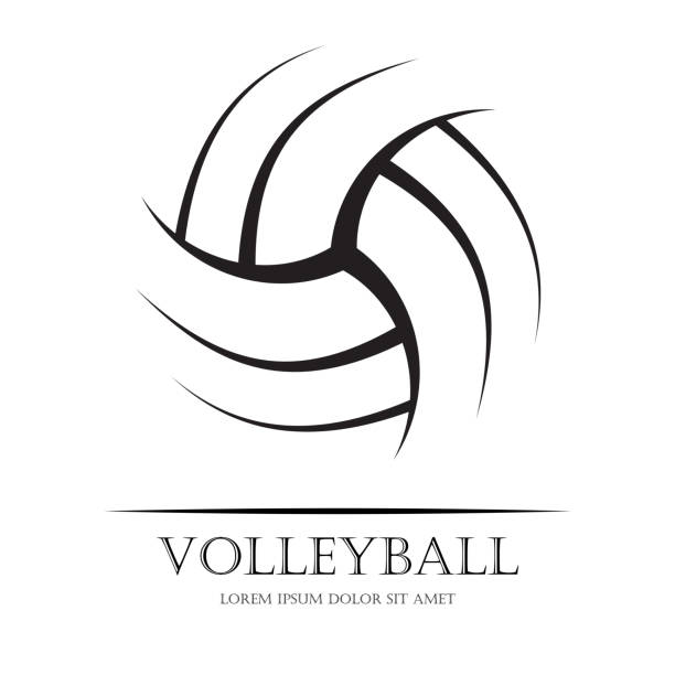 Fondo de pelota de voleibol - ilustración de arte vectorial