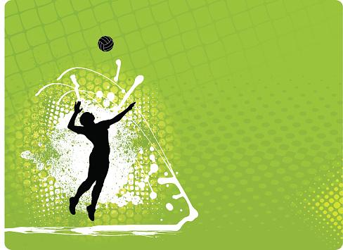 Volleyball Background - Girls