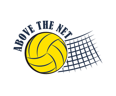 Volleyball badge, vector illustration