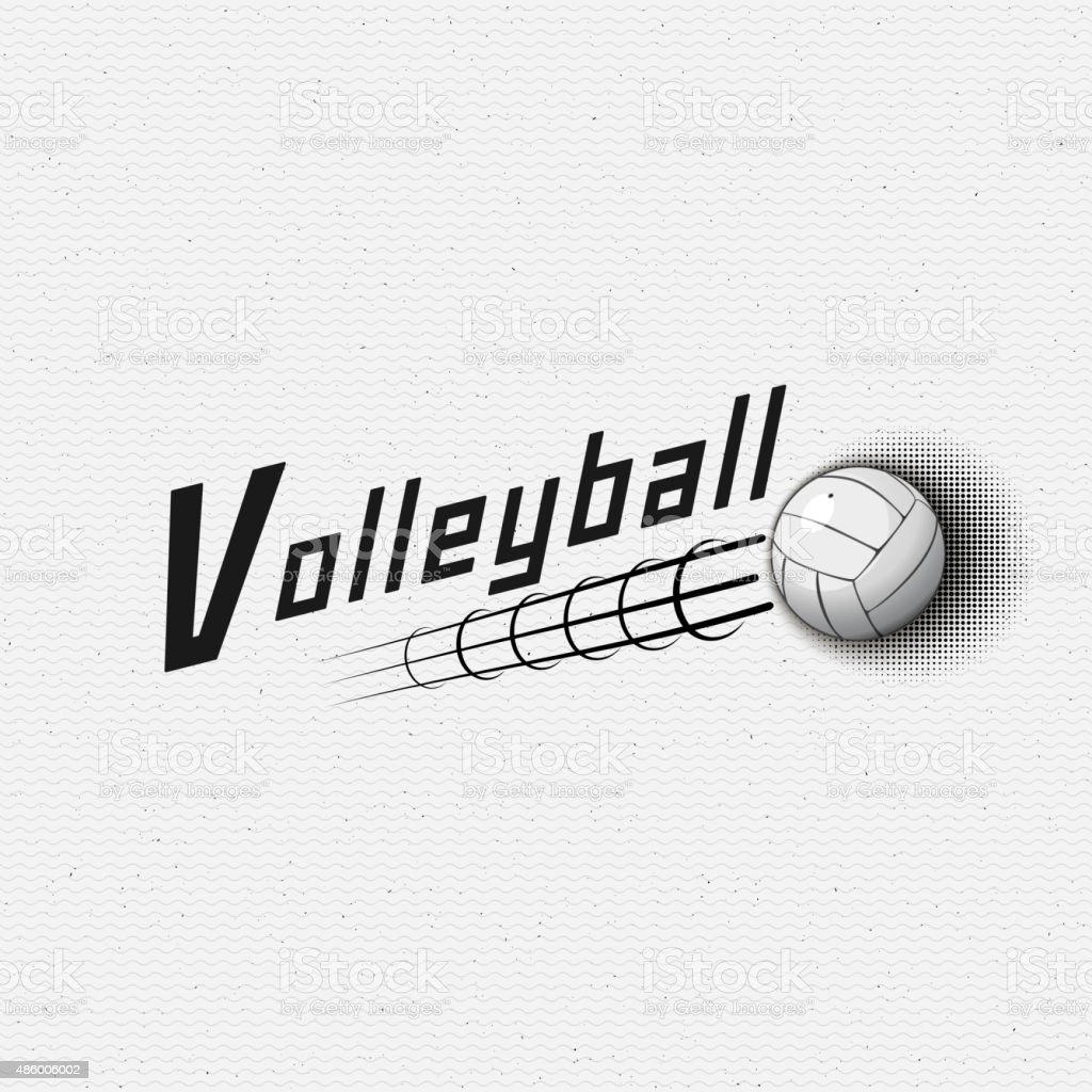 Volleyball badges logos and labels for any use vector art illustration