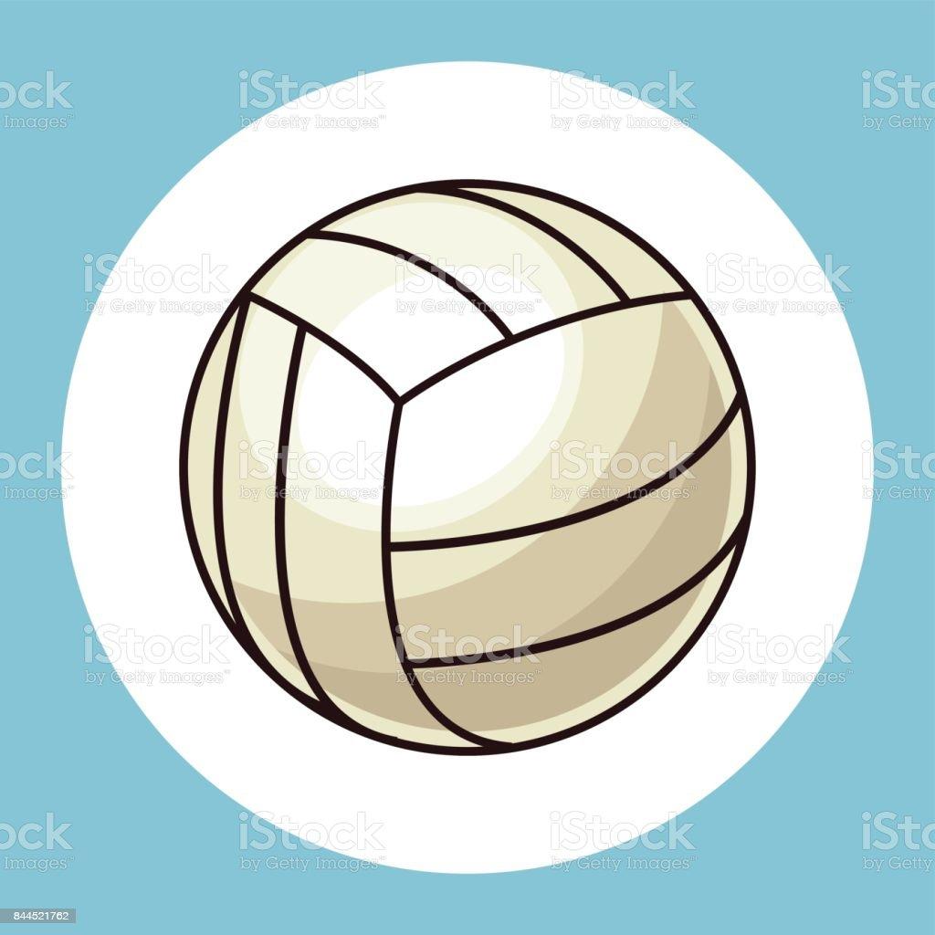 volleyball ball equipment icon vector art illustration