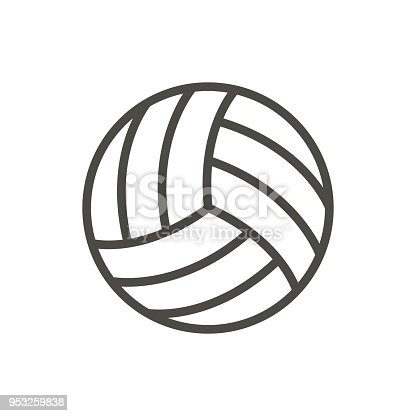 Ilustración de Vector De Icono De Balón De Voleibol Símbolo Juego De ...