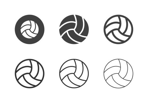 Volleyball Ball Icons - Multi Series vector art illustration