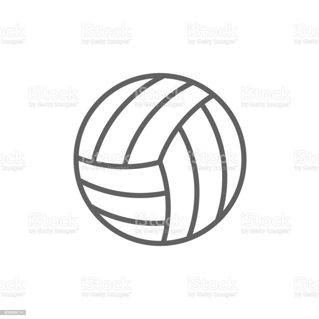 Volleyball ball line icon vector art illustration