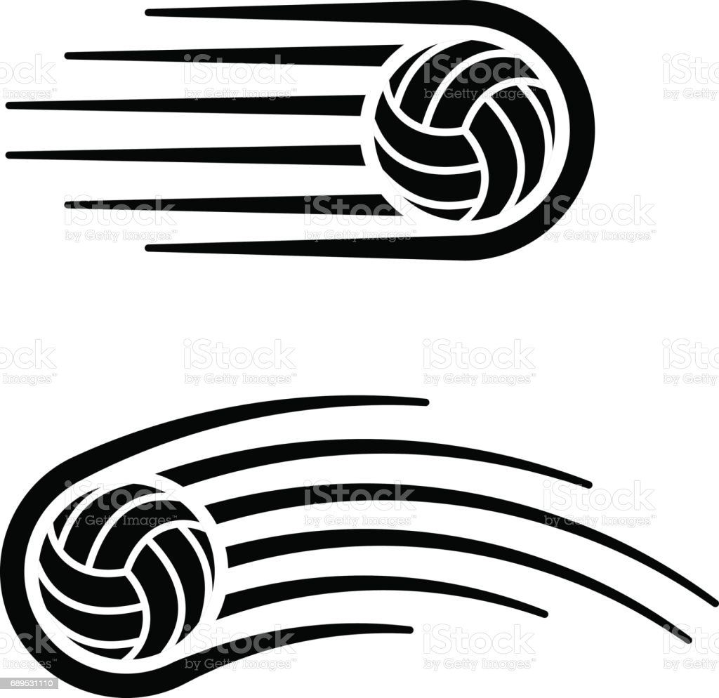 volleyball ball motion line symbol vector vector art illustration