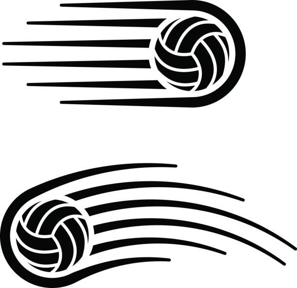 volleyball ball motion line symbol vector vector art illustration