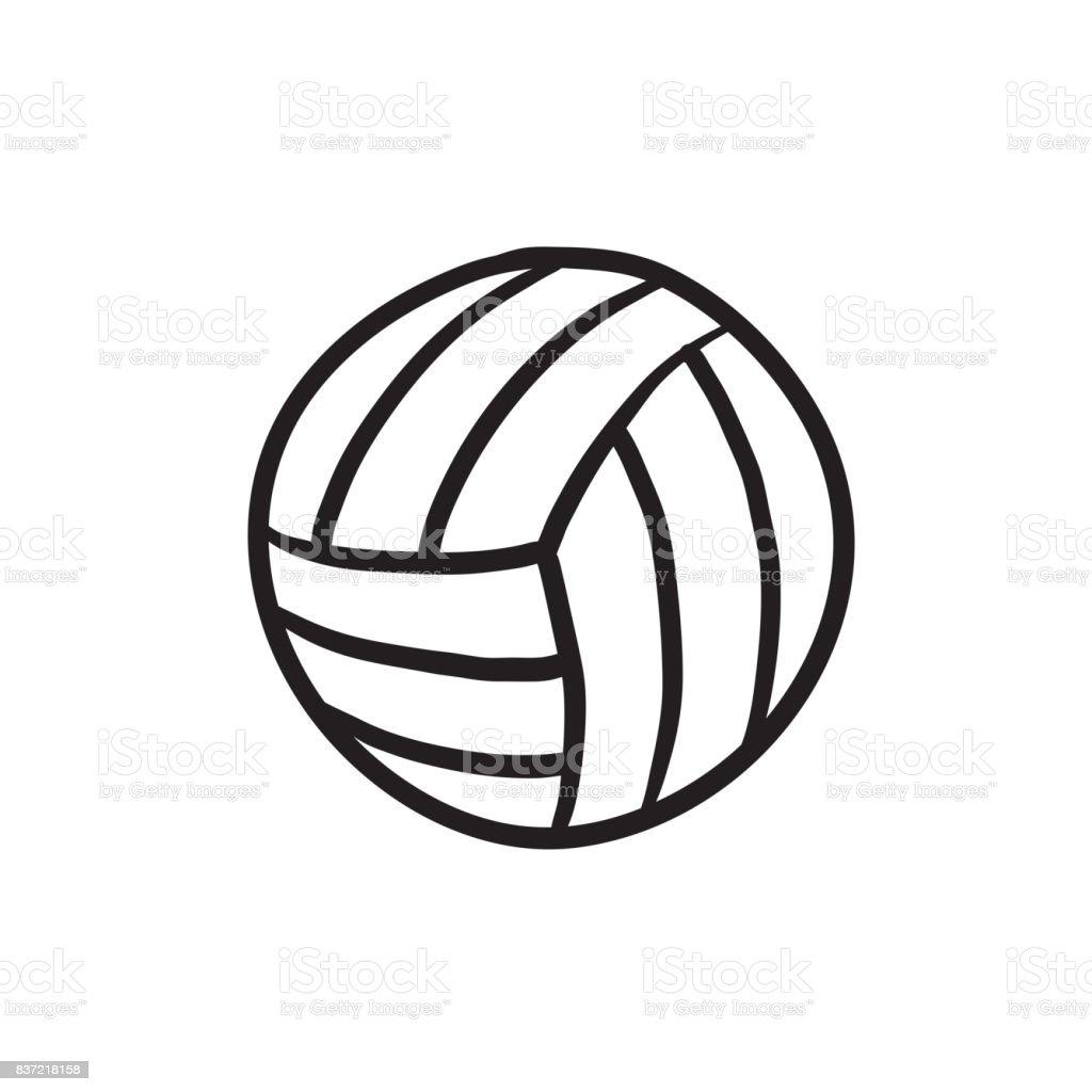 Volleyball ball sketch icon vector art illustration