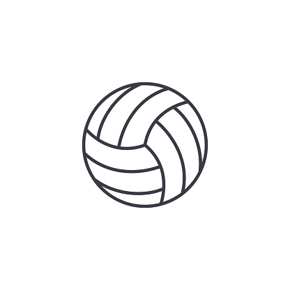 volleyball ball thin line icon. Linear vector symbol