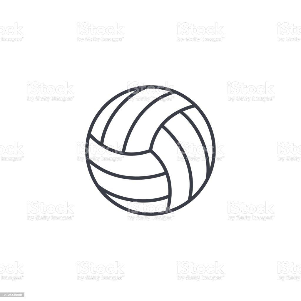 バレーボールのボールの細い線のアイコン。線形ベクトル シンボル ベクターアートイラスト