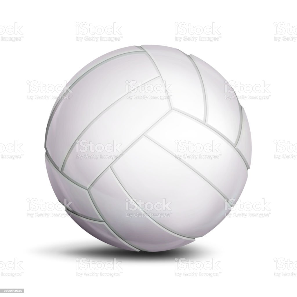 Volleyball Ball Vector. Sport Game, Fitness Symbol. Illustration vector art illustration