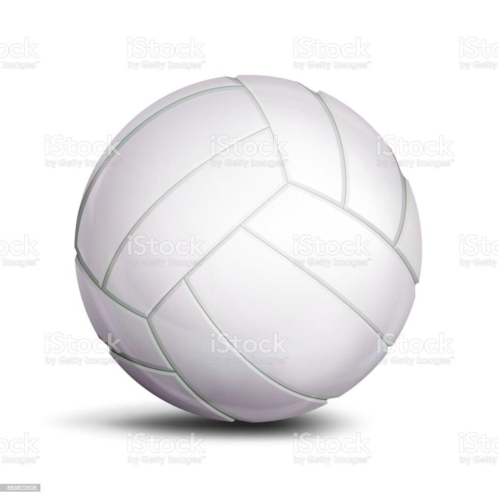 バレーボール ボール ベクトル。スポーツ ゲーム、フィットネスのシンボル。図 ベクターアートイラスト