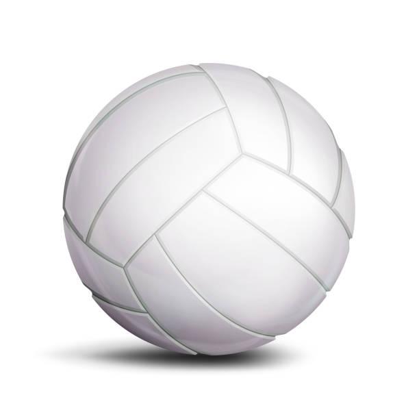 Volleyball Ball Vector. Sport Game, Fitness Symbol. Illustration vector art illustration