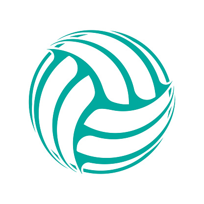 Volleyball blue absttract symbol wallpaper