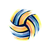 Volleyball brush background