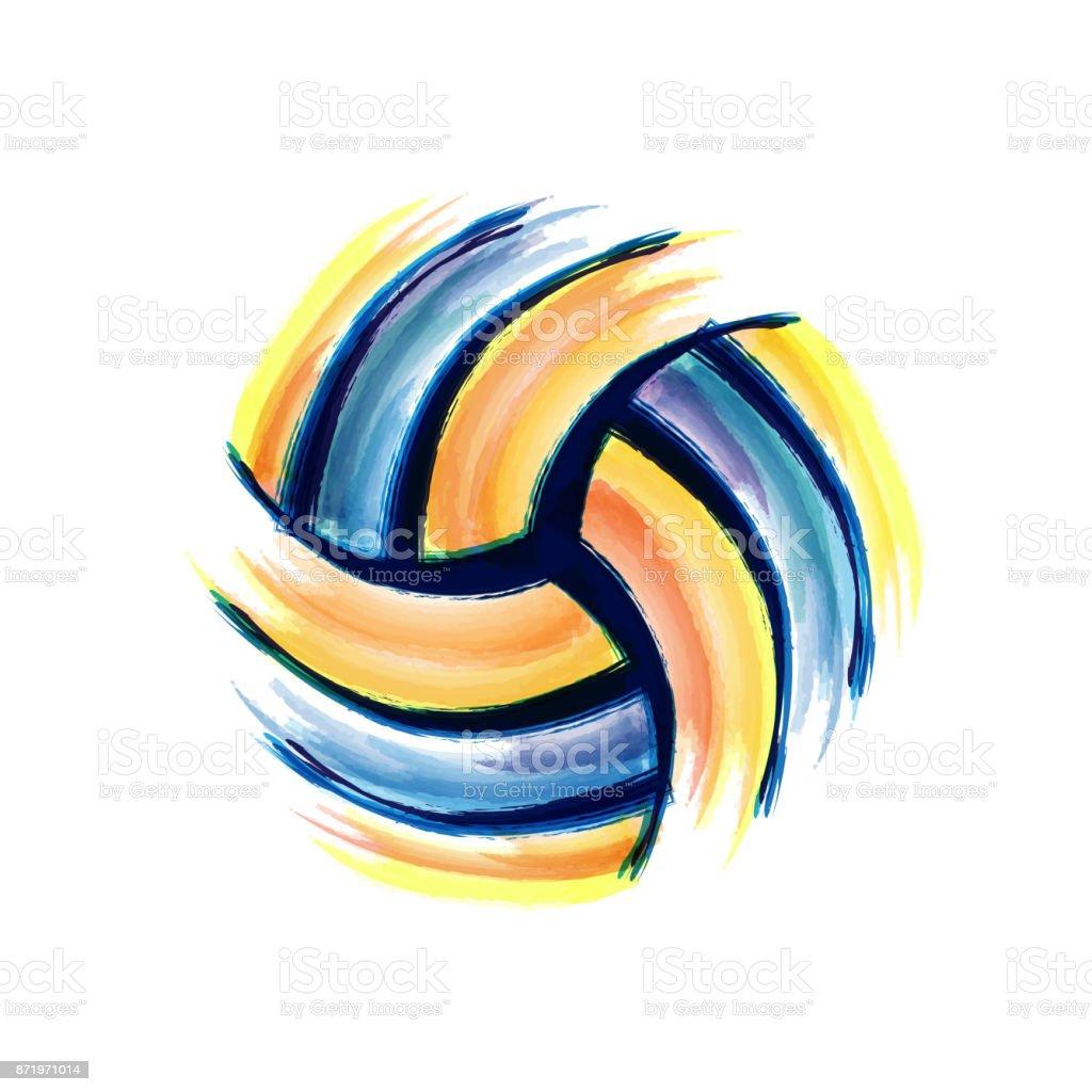 Volleyball-Pinsel-Hintergrund – Vektorgrafik
