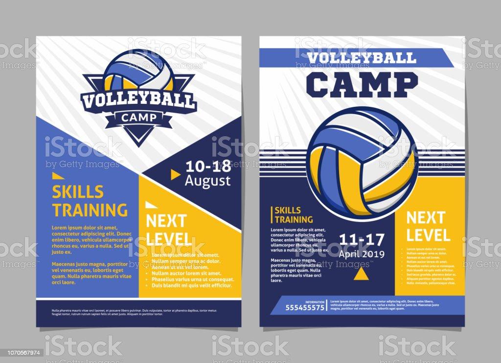 Volleyball camp Poster, Flyer mit Volleyball Ball - Vorlage-Vektor-design – Vektorgrafik